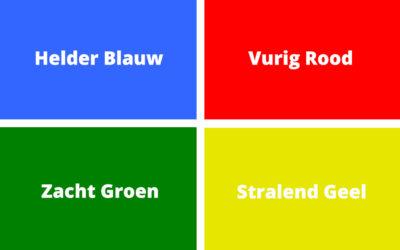 Teamtrainingen; 4 karakterkleuren van Carl Jung